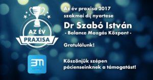 Az év praxisa 2017 szakmai díj nyertese